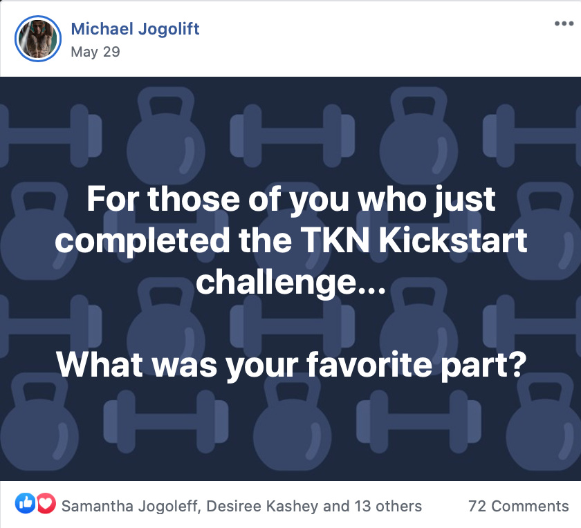 Trevor Kashey Nutrition gets their members real results. Check out this Facebook thread about TKN's Challenge